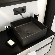 Metro Lane Murphey Waschbecken Aufsatzwaschbecken Waschtisch Quadrat Schwarz