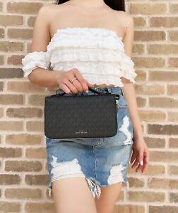 Michael Kors Money Money Bag Double Zip Organizer XL Continental Wallet Black MK
