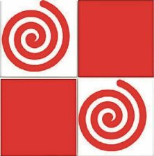 """18 x Tile Swirl Vinyl Self Adhesive Stickers - Kitchen To Fit 4""""tiles Easy Apply"""