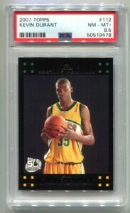 2007 Topps Kevin Durant RC #112 PSA 8 NM-MT NETS