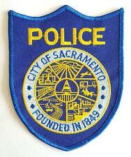 Obsolete Original Police Patch Badge Sacramento California USA