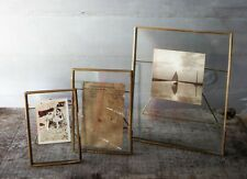 "Antique Brass & Glass Picture Photo Frame 4 x 6"" - Danta by Nkuku"