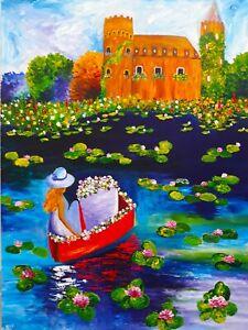 Day Dreaming  Natasha Petrosova Original  Painting I2509