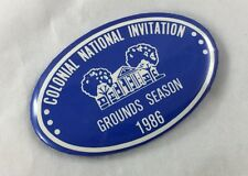 Orig Colonial Invitation Fort Worth Golf Tournament Badge Pin Ground Season 1986
