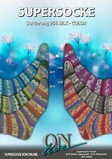 Sockenwolle Supersocke Sort. 256 ONline Silk Color mit 20 % Seide 600 g