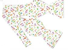 Music Bow tie / Colorful Musical Notes on White / Jazz Music / Self-tie Bow tie