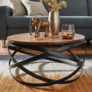 FineBuy Couchtisch MUNAR Wohnzimmertisch Holz Massiv Sofatisch Tisch Wohnzimmer