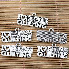 12pcs Tibetan silver nice design I LOVE QUILTING charms EF1831