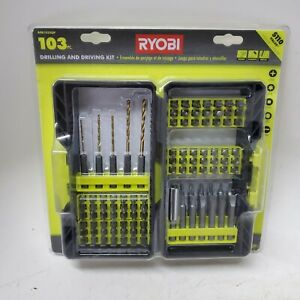 RYOBI A981033QP Titanium Coated Steel Drill and Drive Kit (103-Piece)