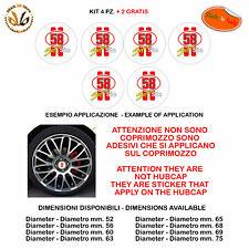 Adesivi coprimozzo super sic 58 sticker for hubcap auto moto print pvc 6 pz.