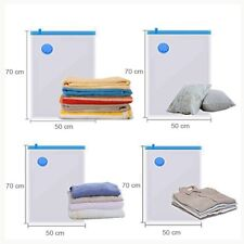 24 X VACUUM STORAGE BAGS SAVER SEAL COMPRESSING SPACE SAVING MEDIUM 50X70CM BAGS