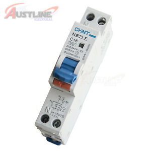 4.5KA 16A RCD / MCB Safety Switch Circuit Breaker RCBO 1 Pole +N CHINT