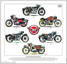 CLASSIC MATCHLESS MOTORCYCLES - FINE ART PRINT - G9 G45 G3 G12CSR G3LS G15 Badge