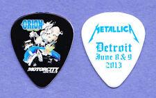 Metallica James Hetfield Orion Festival White Guitar Pick 2013 Tour Detroit