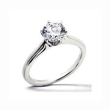 Anillo De Diamantes Solitario 0,40 Quilates Oro Blanco 585 muy buena Moler,