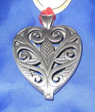 Precious Memories Keepsake Ornament Pewter Christams Pewter Heart Leaves Ne
