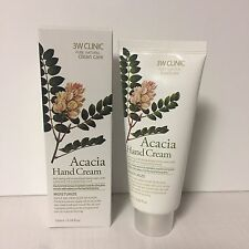 Korean Hand Cream 100ml 3W Clinic Acacia Moisture Gift and Nail Body Lotion
