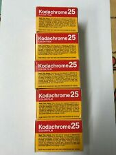 Kodachrome 25 KM 135-36 Color Slide Film 36 Exposure ~ 5 ROLL LOT SEALED EXPIRED