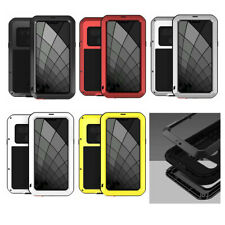 For LG G8 ThinQ, Shockproof Waterproof Gorilla Glass Metal Rugged Defender Case