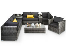 Verona Grey Rattan Modular Corner Sofa Set Garden Furniture Fully Assembled