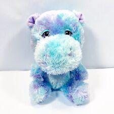 Build a Bear Smallfry Plush Hippo Star bright blue purple Stuffed Animal Toy