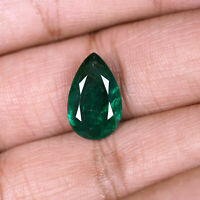 5.05 Cts Natural Emerald Zambia Stunning Rich Green Pear Cut Certified Gemstone