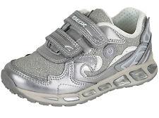 Geox J Shuttle Mädchen Blinki Licht Halbschuhe Schuhe Sneakers  Gr. 27- 35 Neu