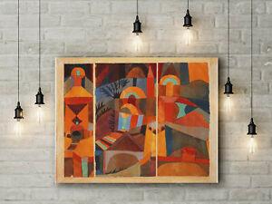 Paul Klee: Temple Gardens. Fine Art Canvas