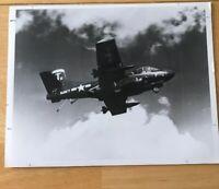 US Navy Douglas F-3D-3 Skyknight Aircraft Night Fighter In Flight Photograph
