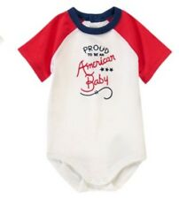 NWT GYMBOREE Proud To Be An American Baby 4th Of July Bodysuit Patriotic 6-12 M