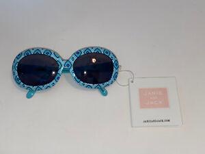 NWT Janie & Jack Girls Mediterranean Chic Teal  Sunglasses Size 2-4 years