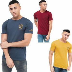 New Crosshatch Mens T-Shirt Top 100% Cotton Plain Short Sleeve Tee Top S-XXL