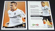 PACO ALCACER SUPERSTAR VALENCIA FOOTBALL CARD LIGA 2014-2015 MUNDICROMO PANINI