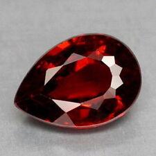10x7mm Pera-faceta púrpura/rojo granate Mozambique Natural Gemstone £ 1 Nr!