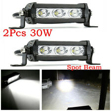 Waterproof 60W 6000LM LED Work Light Bar White 6500K Car ATV Driving Fog Light