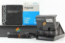 TESTED🔹Almost MINT in Box🔹 Polaroid 690 SLR + Close Up Lens Film insert Japan
