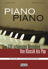 Piano Piano 1, Die 100 schönsten Melodien von Klassik bis Pop EH 3643 mittelschw