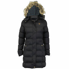 Ladies parka jacket long bubble coat hooded padded big sizes winter(HOPLONG)