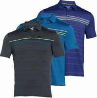 UNDER ARMOUR COLDBLACK® ENGINEERED STRIPE MENS GOLF POLO SHIRT 45% OFF