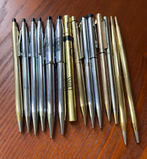 lot 14 vtg pen pencil includes: Cross Gold Filled, Sheaffer, Garland As Is