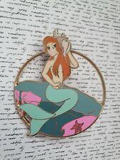 Disney Fantasy Pin Mermaid Lagoon Red Head Cut Out Profile Style Pin
