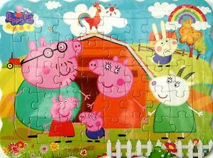 1x Peppa Pig Birthday Party Drawing 40 Pcs Jigsaw Puzzles Best Gifts for Kids