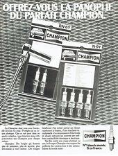 Publicité Advertising 117  1980  les bougies  Champion la panoplie