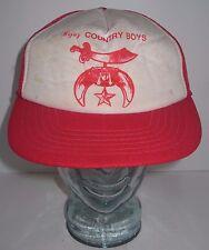 DISTRESSED Vintage Hejaz Country Boys - Shriner's Hat Cap Snapback - OLD & DIRTY