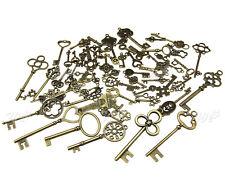 More details for 70pcs old fashion keys antique vintage bronze pendants decor gift