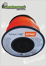 Genuine Stihl Strimmer/Trimmer Nylon Cutting Line 2.7mm Round 215m 0000 930 2227