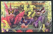 Kolumbien Colombia 2005 Schmetterlinge Butterflies Insekten Insects Block 61 MNH