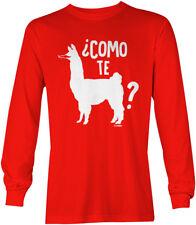 Como Te Llama -Cinco de Mayo Mexico Drink Margarita Mustache LS Mens T-Shirt