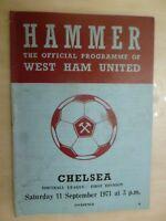 1971/72 Football League: WEST HAM UNITED v CHELSEA - 11th Sept