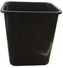 23cm Square Heavy Duty Black Plastic Long Tom Extra Deep Plant Pots x 10